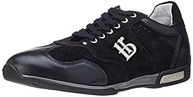 Roberto Botticelli Men's Black Leather Sneakers - 11 UK (PLU28852)