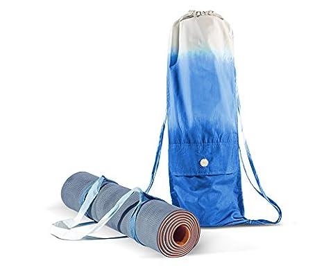 Ensemble de sac tapis de Yoga et Sangle – Pour tous type de tapis pour Yoga – fabrication à la main avec du coton organique – Grand sac pour ranger les objets personnels – Yoga Pilates Gymnase Fitness O Casual – Tapis de Yoga non inclus