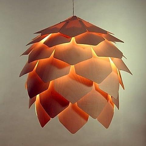Arts luce Pigna legno Shape Piccolo lampadario