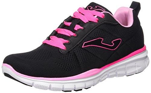 Joma C.Tempo Lady 621 Negro-Fucsia, Chaussures de Sport Femme