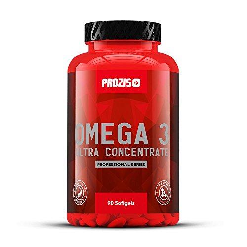 Prozis Omega 3 Ultra Concentrate 90 Gélules - Complément à Base d'Huile de Poisson - Important pour la Santé Cardiaque, la Récupération Musculaire et la Synthèse de Protéine - 30 Doses