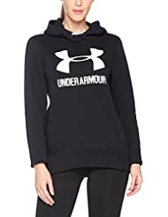 Under Armour Favorite Fleece Po, Felpa Donna, Nero, XL