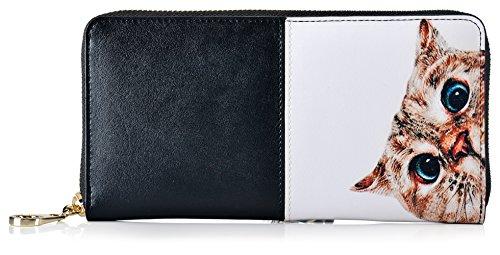 Malirona Frauen blockieren große Kapazitäten Luxus echtes Leder Cluth Wallet Kartenhalter Damen Geldbörse Kreditkarte (Farbe-04) (Wallet Geldbörse Zipper Leder)