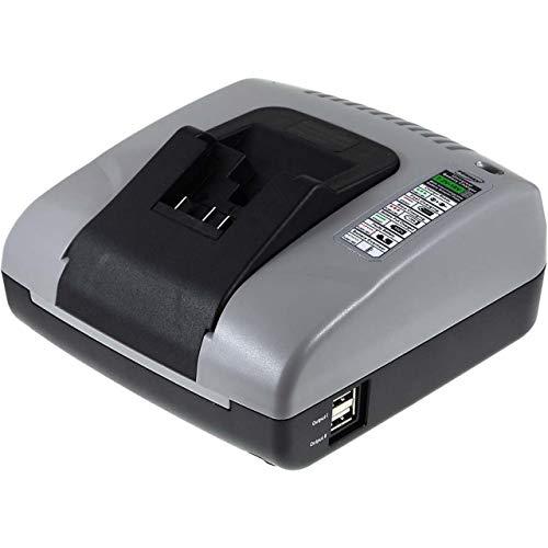 akku-net Akku-Ladegerät mit USB für Dewalt Akkuschlagschrauber DCF815, 10,8V-20V - Volt 20 Dewalt Usb