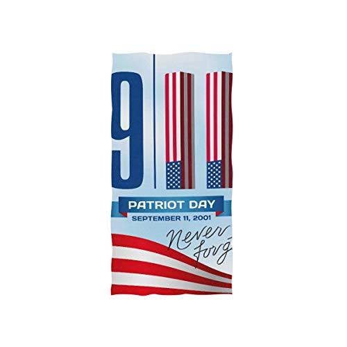 911 Amerika Patriot Day Soft Spa Strand Badetuch Fingerspitze Handtuch Waschlappen Für Baby Erwachsene Badezimmer Strand Dusche Wrap Hotel Travel Gym Sport 30x15 Zoll -