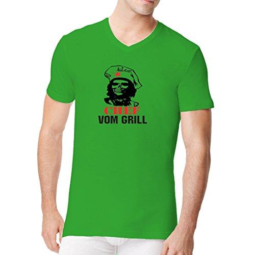 Fun Sprüche Männer V-Neck Shirt - Chef vom Grill by Im-Shirt Kelly Green
