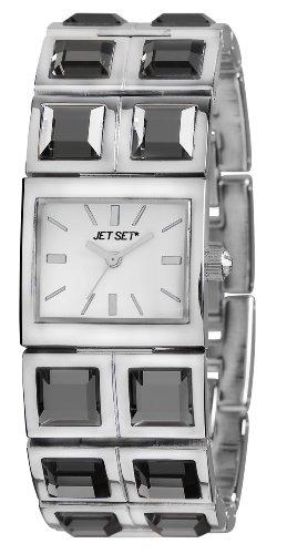 Jet Set J43604-612Beverly Hills–Ladies Watch–Analogue Quartz–Silver Dial–Steel Bracelet Silver