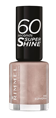 Rimmel London - 60 Seconds Supershine, Smalto per unghie ultra brillante, N. 510 Euphoria, 8 ml
