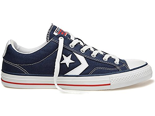 Converse Star Player Adulte Core Canvas Ox, Baskets mode mixte adulte, Bleu, 43 EU