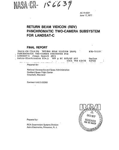 Return Beam Vidicon (RBV) panchromatic two-camera subsystem for LANDSAT-C (English Edition)