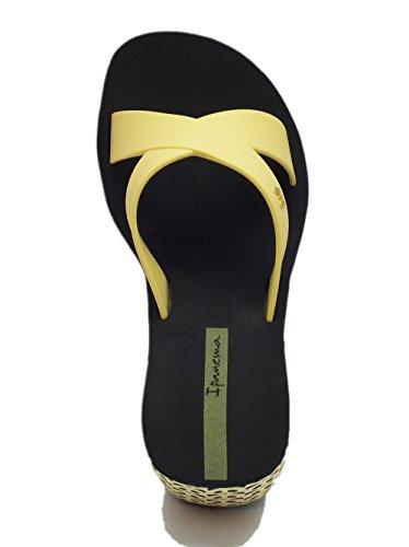 Sandali Ipanema in caucciù giallo zeppa panda nera gialla Yellow Black