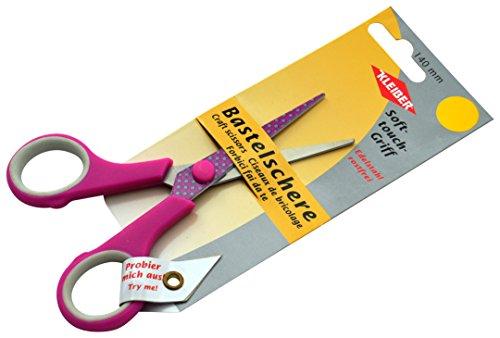 Kleiber Ciseaux Craft Soft Touch, en métal/Acier Inoxydable, Rose, 140 mm