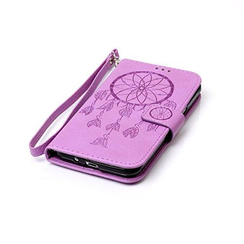 New Style gepresst Embossing Blumen Windchime Muster Retro Folio Flip Stehen Wallet Case mit Handschlaufe für Samsung Galaxy J310 ( Color : 14 , Size : Samsung Galaxy J310 ) 11