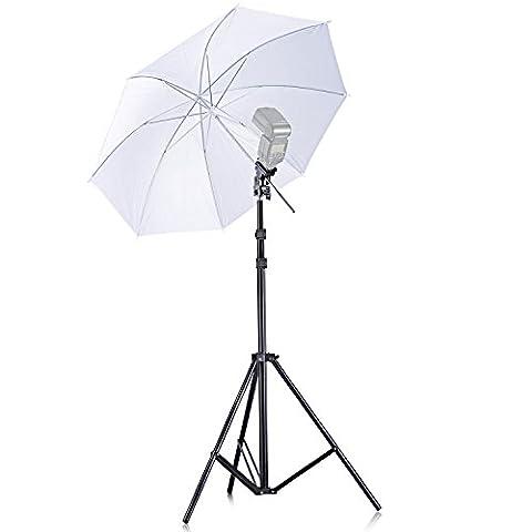 Neewer® Off appareil photo simple Speedlight Flash Chaussures Support pivotant doux Kit parapluie pour Canon 430EX II, 580EX, II, 600EX-RT, Nikon SB600SB800SB900, youngnuo YN 560, YN 565, Neewer tt560, TT680, TT850, tt860