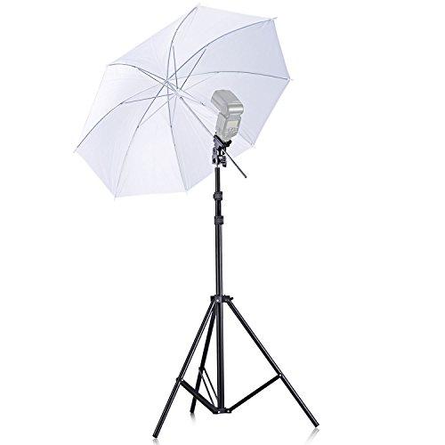 Cámara Neewer® Flash Speedlight único, zapatero, Juego De Paraguas Flexible Giratorio para Canon 430EX II, 580EX II, 600EX-RT, Nikon SB600 SB800 SB900, Youngnuo YN 560, YN 565, Neewer TT560, TT680, TT850, TT860