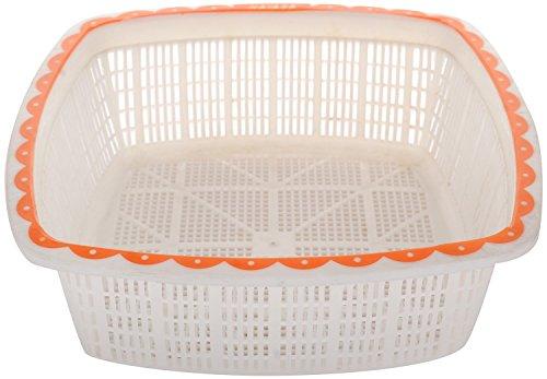 Nayasa Plastic Jingle No 2 Basket Set, Set of 3, Orange