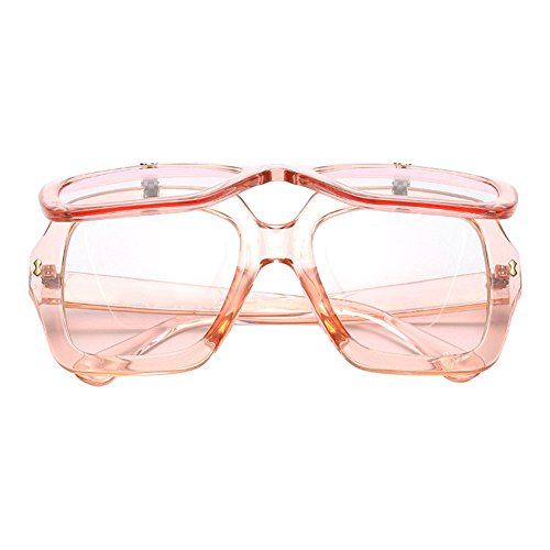 Deylaying Damen Übergroße quadratische Flip Up Sonnenbrille Designer Shade 100% UV-Protect Brillen