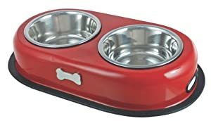 Buckingham Double Dog Bowl Red (2 X 0.45 Ltr) from BIIA4