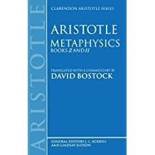 Metaphysics: Books Z and H (Clarendon Aristotle Series) 1st edition by Bostock, David (1994) Taschenbuch