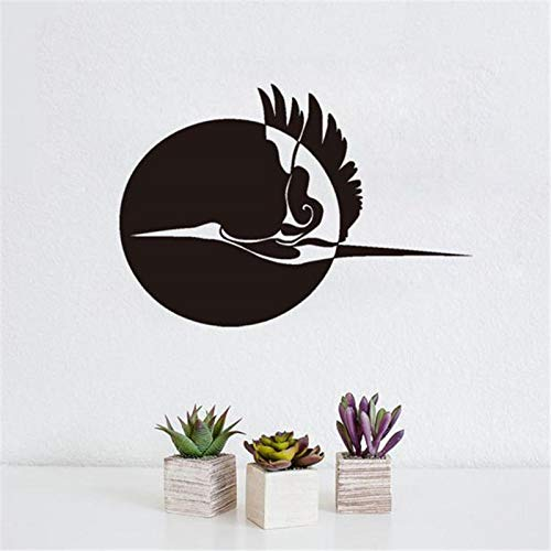 guijiumai Sun And Flying Stork Wall Sticker Home Decor Impermeabile Vinile Stickers murali Uccelli Adesivi Grigio 59x85cm
