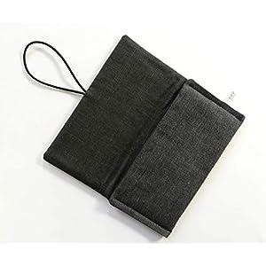 Schutzhülle für ereader oder kleines Tablet/Hülle für Lasegerät/Tasche, Cover, Sleeve, Bag für Kindle, Tolino, Feuer 7, Kobo. Kleines Geschenk. Grau Schwarz