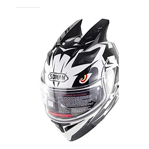 Xyl flip up motocross caschi integrali moto casco moto antiappannante dual lens doppio angolo d.o.t approved man women per atv/mx/dh/mtb/utv/enduro endurance race,l