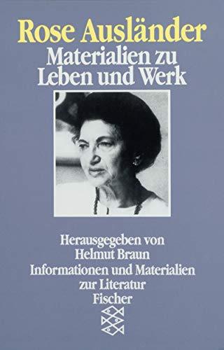 Rose Ausländer: Materialien zu Leben und Werk (Fischer Taschenbücher. Bücher des Wissens)