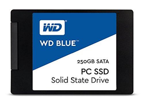 WD Blue 250GB interne SSD Festplatte. SATA 6 Gbit/s 2,5 Zoll (7mm). Optimiert für Multitasking und ressourcenintensive Anwendungen. WDS250G1B0A