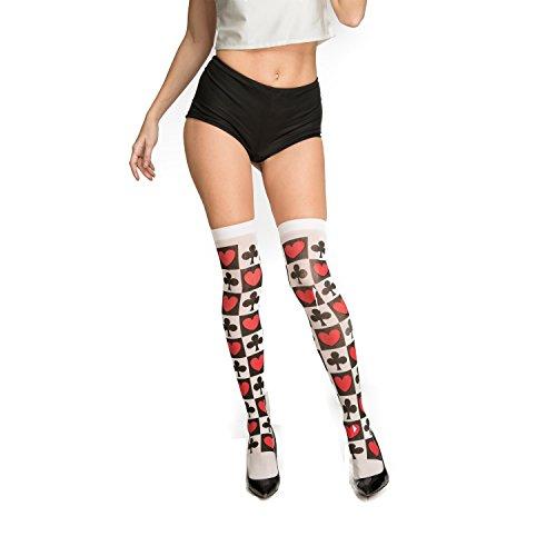 Der Herzen Kids Für Königin Kostüm - viving Kostüme viving costumes204718Königin der Herzen Strümpfe (One Size)