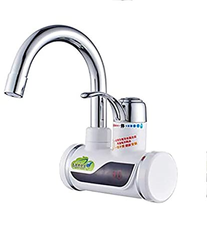 Electric Water Heater 360°Rotation 220V Instant Kitchen Hot Water Faucet with LED Digital Display Hot and