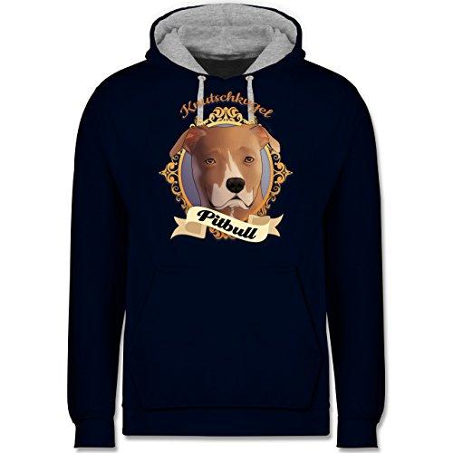 Herren Sweater mit Motiv: Pitbull Hundemotiv Geschenk