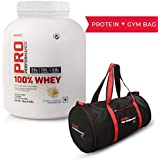 GNC Pro Performance Whey Protein Vanilla 2kg With GNC Gym Bag