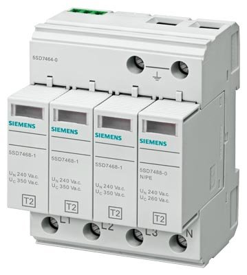 Siemens Ableiter Überspannungsschutz 4-polig OHNE Warnung Remote
