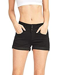 Goosuny Damen Jeans Shorts Mode Low Waist Jeansshorts Sommer Einfarbig  Hüftjeans Hotpants Mini Denim Hosen Skinny 96d04c5117