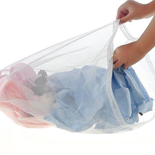 Sukisuki Wäsche Care Home Gadgets BH Kleidung Unterwäsche Schutzhülle Mesh Tasche, Nylon, weiß, Large - Mesh-baby-wäsche-tasche