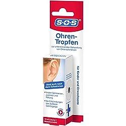 SOS Ohrentropfen | Zur unterstützenden Behandlung von Ohrenschmerzen | Ideal auch nach dem Schwimmen | Auch zur vorbeugenden Anwendung