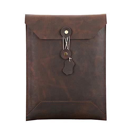 ZPF Briefumschlag-Dokumentenhalter aus Leder, wasserdichte Retro-Multifunktions-Tablet-Tasche aus Leder, Laptop-Tasche, zum Schutz der Sammlung von Aktenbüros -