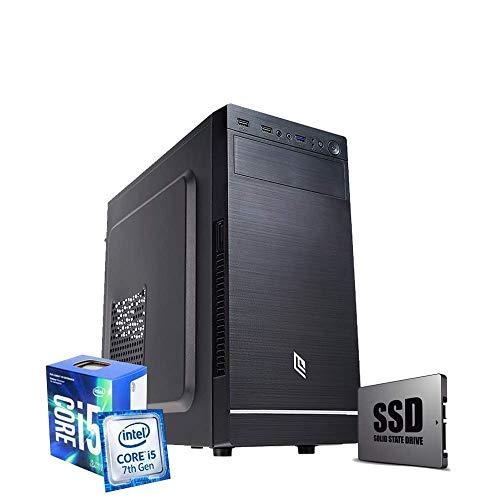 Pc de sobremesa i5 7400 CPU Intel 3.40 GHz en Boost,RAM 8GB Ddr4,SSD 240 GB, + HDD 1 TB,grabadora DVD,Windows 10 Pro PC Fijo Ordenador i5 montado,Ordenador de sobremesa i5