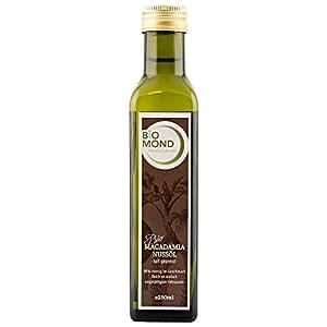 BIO Macadamianussöl Nussöl von BIOMOND, 250ml, kalt gepresst /Nativ/ aus der Macadamianuss