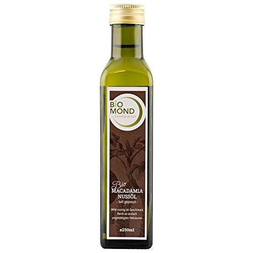 BIO Macadamianussöl Nussöl BIOMOND 250 ml, frisch gepresst / Nativ / aus der Macadamianuss