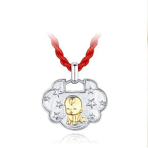 plaqué18K Golden changmingsuo/Safe Bracelet pendentif/ cadeau d'anniversaire enfant-A
