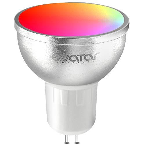 Smart Lampe GU5.3/MR16, Wlan lampe LED Glühbirne mit Fernbedienung Stimmenkontrolle arbeiten nur in 2,4 g Wifi Smart Life App (1 Pack)