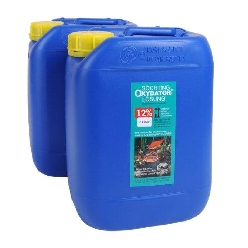 10 Liter Söchting Maxi-Oxydator Lösung 12{e4cbc5828c6218f6041a44a327206a28388b283872669f6142f5018c35f5f588}, 2 x 5 Liter Nachfüllpack