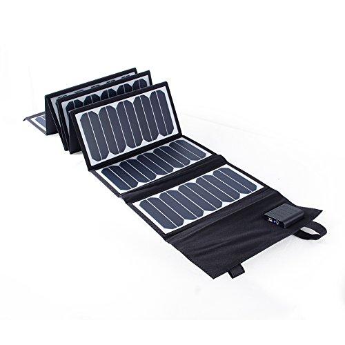 KINGSOLAR 60W Solar Ladegerät High Efficiency 2-Port Beweglicher Faltbarer Ladegerät Panel Charger für iPhone, iPad, Samsung und Andere Digitale Geräte 60w Solar Panel