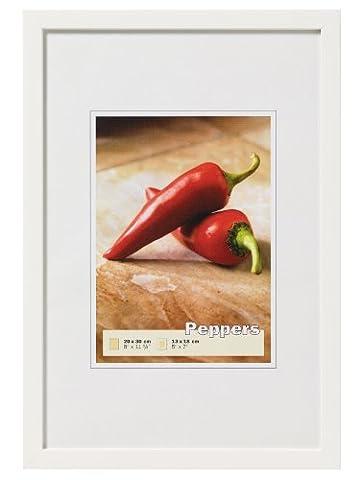 walther design BP342V Peppers Bilderrahmen, Holz, polarweiß, 29,7 x 42 cm