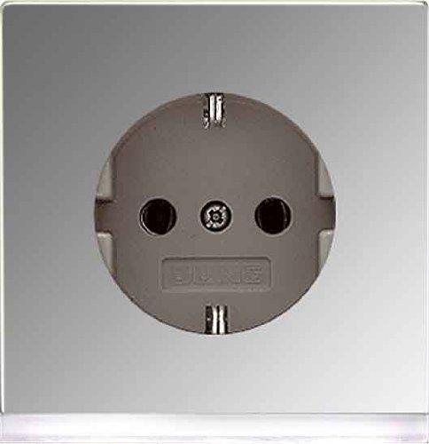 JUNG GCR2520-OLEDW - BASE SCHUKO 10-16A 250V LED CROMO/CROMADA METALICO/A