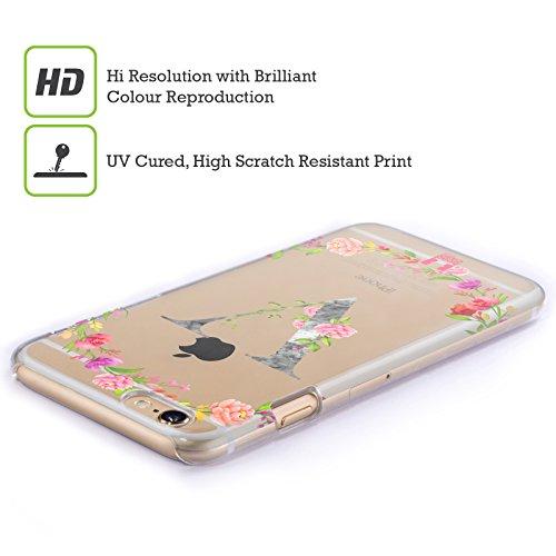 Head Case Designs Buchstabe T Dekorative Initialen 2 Ruckseite Hülle für Apple iPhone 6 / 6s Buchstabe V