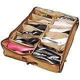 Gtc 12 Pair Under Bed Shoe Organizer Shoes Organizer/Shoe Storage Organizer (278-46)