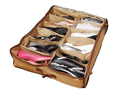 Gtc 12 Pair Under Bed Shoe Organizer Shoes Organizer/Shoe Storage Organizer (278-46)