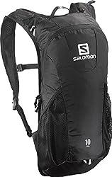 Salomon Unisex Runninghiking Backpack, 46x20x12 Cm,50 L Trail 10, Black, L37997600